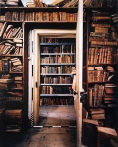 Bookshelves upon bookshelves!