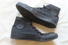 high top black converse