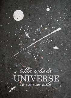 The Whole Universe Love   Hand Printed Recycled space paper by LarsLoveLetters