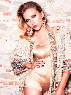 Scarlett Johansson by Victor Demarchelier for Vogue Russia October 2012