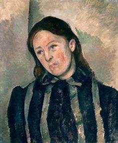Paul Cézanne - Portrait of Madame Cézanne with Loosened Hair, 1883/7
