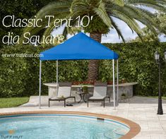 Square Classic Tent from Fiberbuilt Umbrellas for your outer space. Home Furniture, Furniture Design, Shade Umbrellas, Canopy Tent, Pacific Blue, Outer Space, House Design, Patio, Landscape