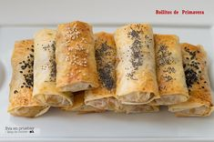 Masa Brick, Empanadas, Veggie Recipes, Sushi, Food And Drink, Veggies, Yummy Food, Bread, Cooking