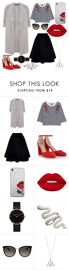 """Everyday for Nadja"" by sonjarajajee on Polyvore featuring Dorothy Perkins, N°21, Red Herring, Lime Crime, CLUSE and Gucci"