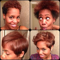 """The infamous """"Curls to Straight"""" process!!!... so cute both ways but idk if I can go that short in front"""