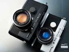 The original Olympus Pen F 1/2 frame film camera from 1963