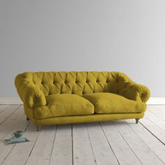 Our Bagsie sofa is a firm favourite. With its laid-back comfort and weathered oak legs, it's a wicked take on a classic chesterfield. Dining Room Shelves, Living Room Storage, Dining Rooms, Cider House Rules, Chesterfield Style Sofa, Magical Home, Velvet Furniture, Weathered Oak, Home Comforts