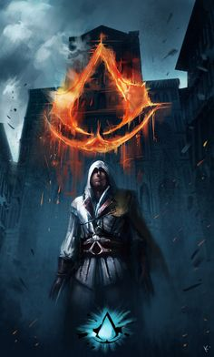 Assassin's Creed Fall by kclub on deviantART [[Always heard him called the Renaissance Batman, and now he has the poster to prove it.]]
