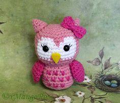 Baby Owl Amigurumi Toy (Crochet Pattern, Digital Download) Baby Gifts, Nursery Gift, Plush Doll