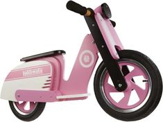 New Kiddimoto Kids Learn to Ride No Pedal Wooden Balance Bike Scooter Pink Stripe Brand new, Auth. Dealer, Warranty Ride in style like a true Mod with Kiddimoto 3 Wheel Scooter, Kids Scooter, Wooden Scooter, Balance Bike, 3rd Wheel, Toy Rooms, Ride On Toys, Baby Furniture, Wood Toys