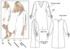 Marilyn Dress Paper pattern - Easy sewing project