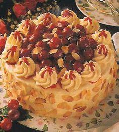 Višňový dort s malinovým želé