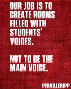 Enough with the Teacher Talk- Ideas for Getting More Student Talk | Pernille Ripp