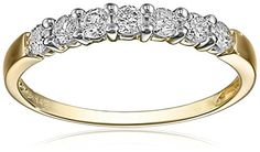 14k Yellow Gold 7-Stone Shared-Prong Diamond Ring (1/2 cttw, I-J Color, I1-I2 Clarity), Size 7 Amazon Collection http://www.amazon.com/dp/B000NTI9JW/ref=cm_sw_r_pi_dp_Nhy8wb0ZFG0GY
