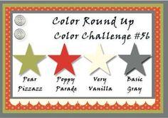 Pear Pizzazz, Poppy Parade, Very Vanilla, Basic Gray