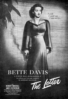 Bette Davis from The Letter
