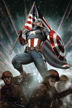 Captain America by Adi Granov (Marvel comics) Marvel Dc Comics, Marvel 616, Marvel Heroes, Captain America Poster, Marvel Captain America, Comic Book Characters, Comic Book Heroes, Marvel Characters, Comic Books Art