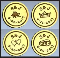 Custom Monogram & Date wax seals stamps