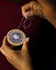 Teneriffe Lace - needle weaving - tutorial