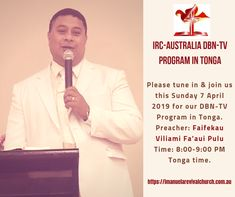 IRC-Australia DBN-TV Sunday 7 April 2019 – Faifekau Fa'aui Pulu – FB Ad 7 April, Sunday, Australia, Ads, Facebook, Domingo