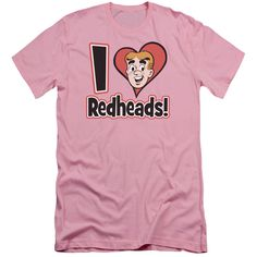 ARCHIE COMICS/I LOVE REDHEADS - S/S ADULT 30/1 - PINK -