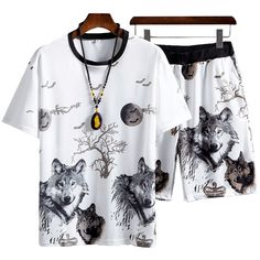 ://lztees.com/product/mens-casual-sport-suit-summer-short-sleeve-pants-suit-youth-sports-breathable-training-two-piece-suit-loose-fitness-suits/ Sport Casual, Men Casual, Tracksuit Set, Summer Shorts, Sport Outfits, Fitness, Shirt Dress, Suits, Youth