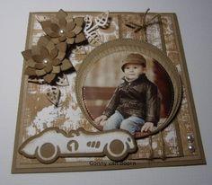 Hobbyjournaal: Een jongens kaartje Cars, Frame, Happy, Vintage, Design, Home Decor, Decoration Home, Autos, Frames