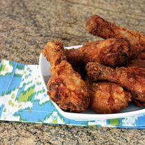 Oven Fried Chicken - I use bone-in thighs and bone-in breast as well - My husband loves this recipe