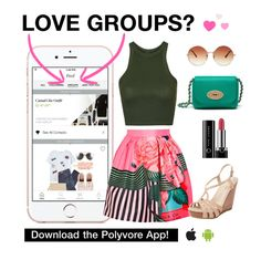 """""""Enter Group Contests on the App!"""" by polyvore ❤ liked on Polyvore featuring Mary Katrantzou, Topshop, Mulberry, Seychelles and Marc Jacobs"""
