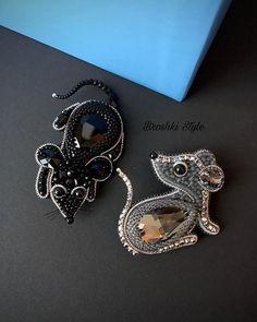 Soutache Necklace, Tassel Earrings, Brooches Handmade, Handmade Jewelry, Boho Jewelry, Beaded Jewelry, Beaded Animals, Beaded Brooch, Flower Brooch