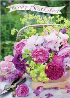 Картинки по запросу birthday wishes with flowers
