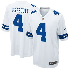 DAK PRESCOTT #4 DALLAS COWBOYS AUTHENTIC REPLICA JERSEY BLUE MEN/'S M L XL  NWT