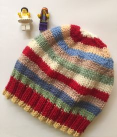 Free Post Retro Stripe Windy Day Beanie.  Hat.  Australian Wool.  Boy.  Girl. Windy Day, Knitted Hats, Knit Crochet, Beanie, Pure Products, Knitting, Handmade, Free, Beanies