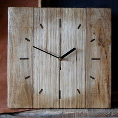 Pallet Wood Wall Clock by CraftyIsland on Etsy, €30.00