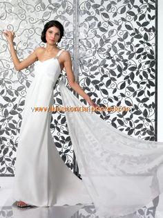 2013 Maßgeschneiderte Brautkleider aus Chiffon mit Schleppe