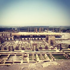"""The ruins of the ancient city of Persepolis, Iran (8x8"""" Photograph on Canvas) // $40"""