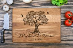Personalized Cutting Board Wedding Gift Engagement от shesterwood