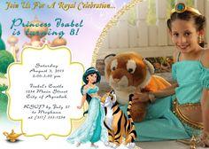 Printable Jasmine Birthday Invitations ~ Princess jasmine invitation princess jasmine party princess