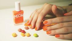 m&m's and nail polish