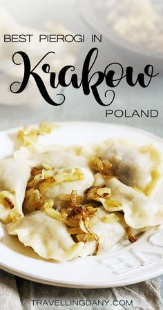Let's find out what are the best pierogi in #krakow and other delicious Polish foods. With tips on cheap restaurants and what to eat. #poland #polish #food Pierogi | Krakow | Krakow food tour | Food blog | What to eat in Krakow | Polish dishes | Beer in Krakow #TravelDestinationsUsaCheap