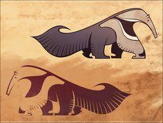anteater stencil by iktis on deviantART