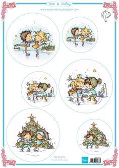 Ddk3221 Don & Daisy - Dancing on ice - Don en Daisy - Marianne Design Knipvellen - Hobbynu.nl