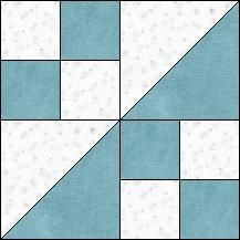 Block of Day for December 04, 2016 - The Sickle-strip piecing-The pattern may be downloaded until: Saturday, December 31, 2016.