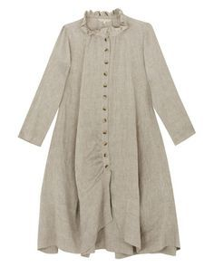 e4283133a1d3 Button Front Linen Coat from Cabbages and Roses. Magnolia Pearl