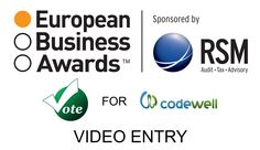 """CodeWell Needs Your Help to Become the National 'Public' Champion for Macedonia in the European Business Awards.  TO VOTE: Open the link: http://www.businessawardseurope.com/vote/detail/former-yugoslav-republic-of-macedonia/11250, type in your email address in the""""Vote for this entry!"""" box and click on the VOTE button. Go to your email inbox, open the email and click on the link to register your vote.  Thank you!"""