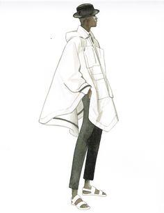Menswear illustration by Lamont O'Neal