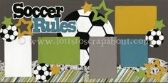 Soccer Rules Scrapbook Page Kit