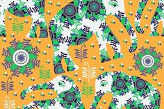 Check out 4 Oriental seamless pattern by LuizaVictorya on Creative Market