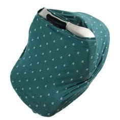 Super soft jade stretchy car seat cover. Works great as a nursing cover and shopping cart cover as well. Less stuff for mom to carry around! Click through to see 100+ fabric choices available!