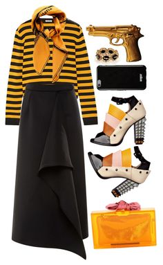 """""""Stripes"""" by cherieaustin ❤ liked on Polyvore featuring Miu Miu, Kenzo, Fendi, Charlotte Olympia, ZENTS, Givenchy, women's clothing, women, female and woman"""
